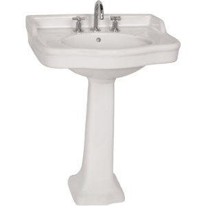 Cheviot Antique Console Bathroom Sink - 28.38-in - White