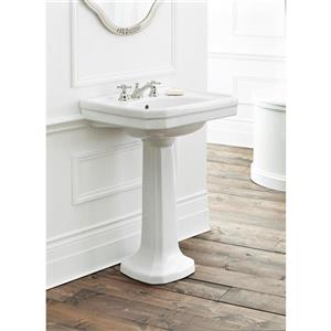 "Cheviot Mayfair Pedestal Bathroom Sink - 25"" x 20 1/2"" - White"