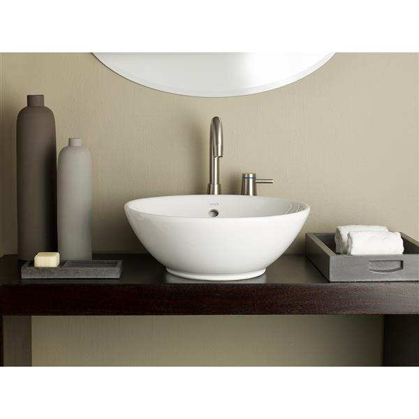 Cheviot Water Lily Vessel Bathroom Sink 16 7 8 X 16 7 8 White 1200 Wh Rona