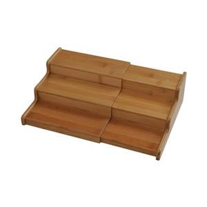 Vancouver Classics BMB17040 3-Tier Expandable Bamboo Spice R