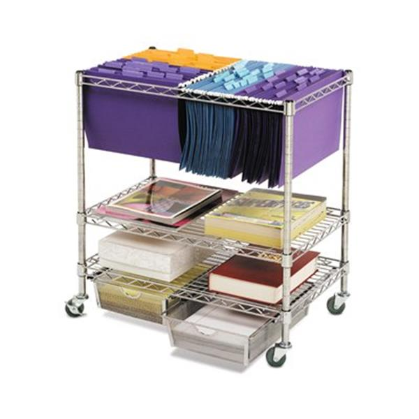 Vancouver Classics OFF42569 Heavy Duty Chrome File Cart with