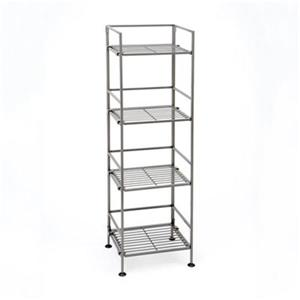 Vancouver Classics SHE04125B 4-Tier Iron Folding Shelf,SHE04