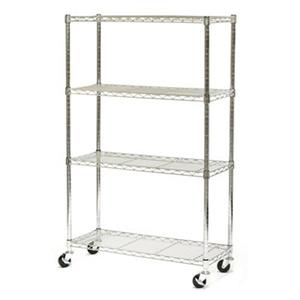 Vancouver Classics SHE15363Z 4-Shelf Chrome Wire Shelving Sy