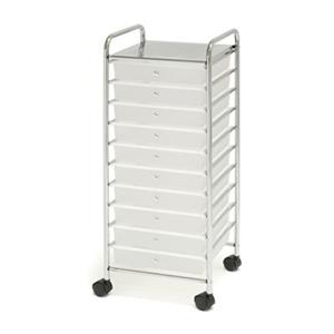 Vancouver Classics SHE16210B 10-Drawer Organizer Cart,SHE162