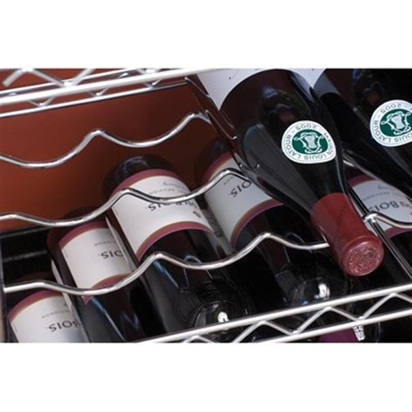 """Porte-bouteilles de vin Seville, 5 tablettes, 33,75"""" x 40,5"""", métal"""
