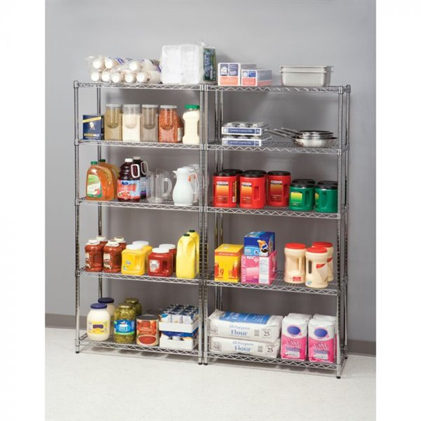 Vancouver Classics SHE18370BZ 5-Shelf Shelving System with W