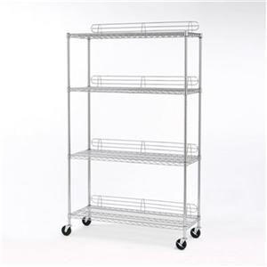 Vancouver Classics SHE18487Z 4-Shelf Shelving System with Le
