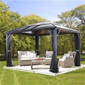 Sojag Meridien Aluminum Sun Shelter - 10-ft x 14-ft