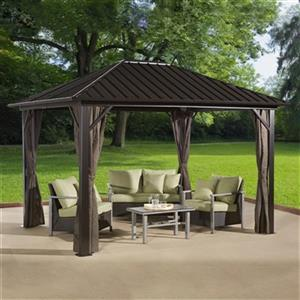 Sojag Genova Hardtop Gazebo with Netting - 12-ft x 10-ft
