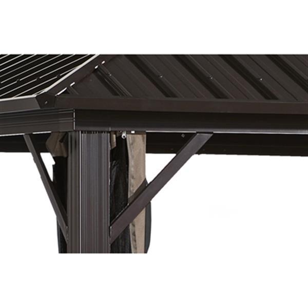 Sojag Genova Sun Shelter - 10-ft x 14-ft - Steel/Aluminum- Brown