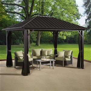 Sojag Genova Sun Shelter - 10-ft x 14-ft - Steel/Aluminum- Brown