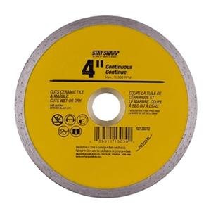 EAB Tool Co. 4-in Continuous Yellow Diamond Blade,2130312