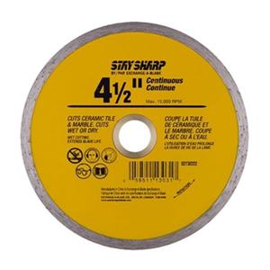 EAB Tool Co. 4 1/2-in Continuous Yellow Diamond Blade,213032