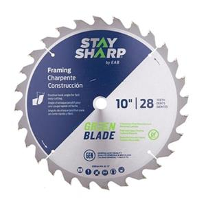 EAB Tool Co. 10-in Carbide Green Framing Saw Blade,2110716