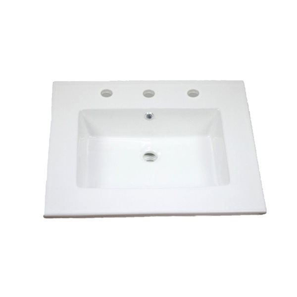 "Ens. de cuisine Flair, évier simple, 25"", blanc"