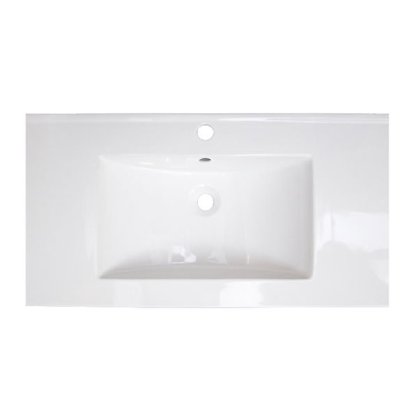 "American Imaginations Flair Ceramic Top Set - Single Sink - 32"" - White"