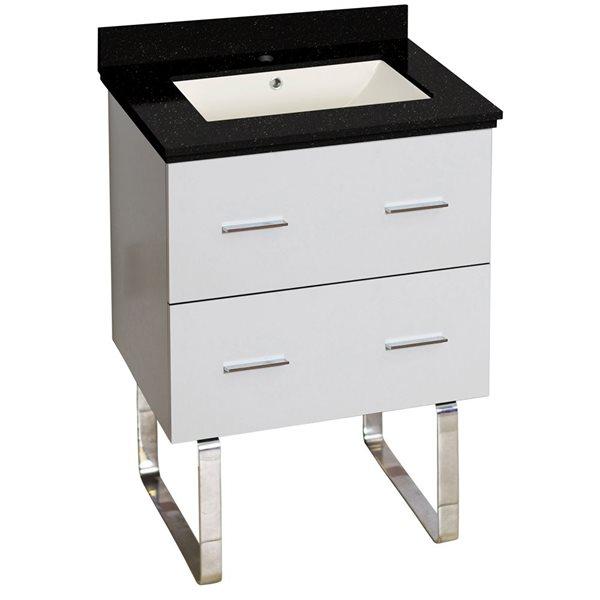 "American Imaginations Xena Vanity Set  - Single Sink - 23.75"" - White"
