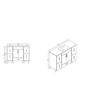 American Imaginations Zen 48-in Dawn Grey Bathroom Vanity Cabinet Set