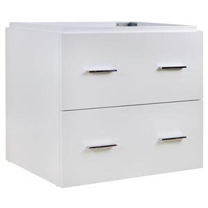 American Imaginations Xena 23.25-in White Bathroom Vanity Cabinet Set