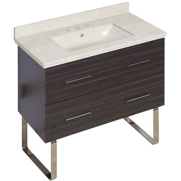 "American Imaginations Xena Vanity Set  - Single Sink - 36"" - Gray"