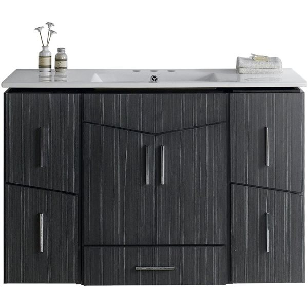 "American Imaginations Zen Vanity Set  - Single Sink - 48"" - Gray"