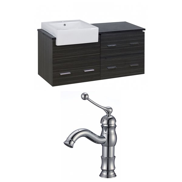 "Xena Farmhouse Vanity Set  - Single Sink - 48.75"" - Gray"