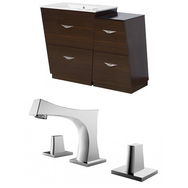 "Vee Vanity Set  - Single Sink - 49.5"" - Brown"
