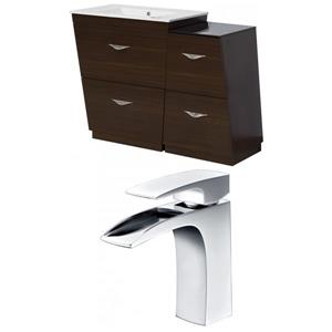 "American Imaginations Vee Vanity Set  - Single Sink - 43.25"" - Brown"