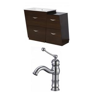 "American Imaginations Vee Vanity Set  - Single Sink - 40.5"" - Brown"