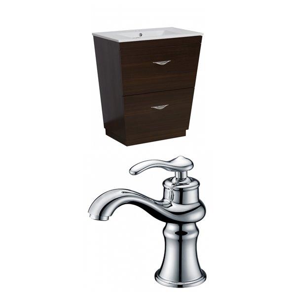 American Imaginations Vee Vanity Set Single Sink 30 Brown Ai 9009 Rona
