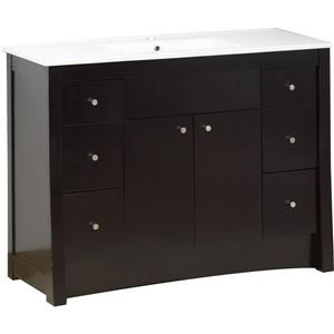 "American Imaginations Elite Vanity Set  - Single Sink - 48"" - Brown"