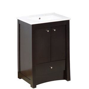 "American Imaginations Elite Vanity Set  - Single Sink - 32"" - Brown"