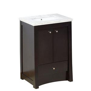 "American Imaginations Elite Vanity Set  - Single Sink - 31.75"" - Brown"