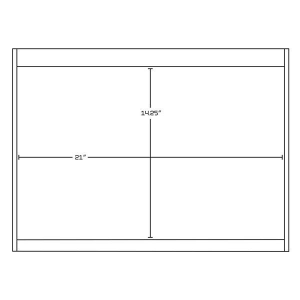 "American Imaginations Xena Vanity Base Set - 74.5"" x 21.5"" - White"