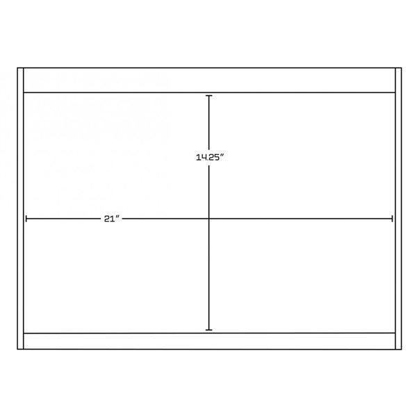 "American Imaginations Xena Vanity Base Set - 88.5"" x 21.5"" - Gray"