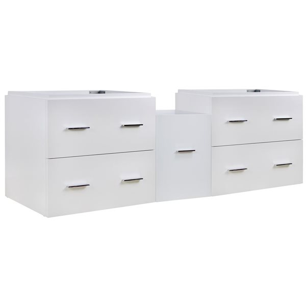 "American Imaginations Xena Vanity Base Set - 60.5"" x 21.5"" - White"