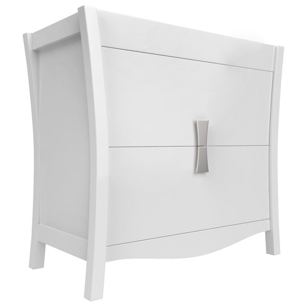 "American Imaginations Bow Vanity Base Set - 34.75"" x 33"" - White"