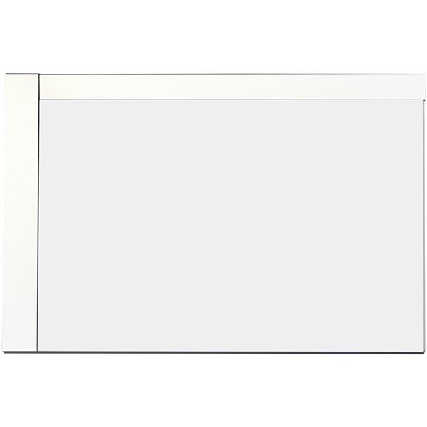"American Imaginations Xena Mirror - 35.5""- Wood - White"