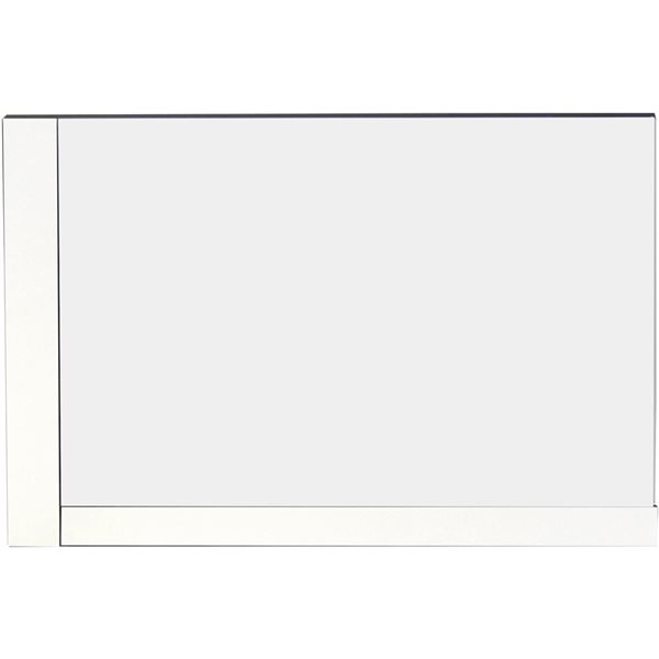 "Miroir Xena, 35,5"" x 23,5"", bois, blanc"