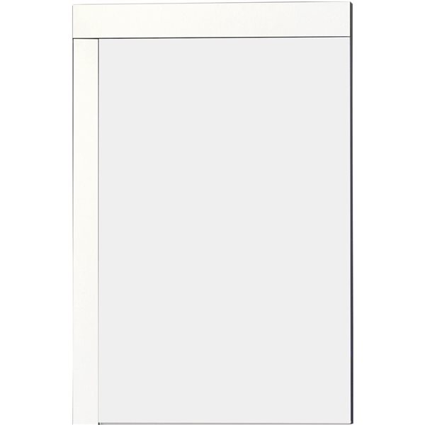 "American Imaginations Xena Mirror - 23.5"" x 35.5"" - Wood - White"