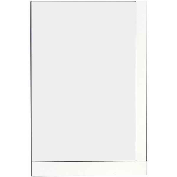 "American Imaginations Xena Mirror - 23.5"" x 35.5"" - Wood - White"