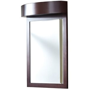 "Miroir Tiffany, 24"" x 36"", bois, brown"