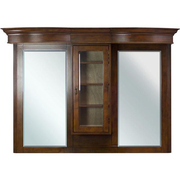 "American Imaginations Milano Mirror - 62"" x 45.25"" - Wood - Brown"