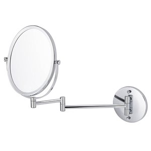 """Miroir grossisant, 16,95"""" x 13"""", métal, chrome"""