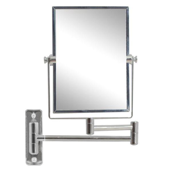 """Miroir grossisant, 16,36"""" x 12,13"""", métal, chrome"""