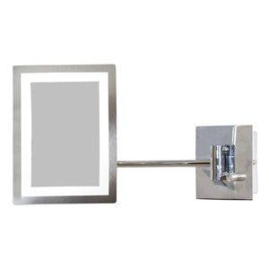 """Miroir grossisant, 17,44"""" x 8,66"""", métal, chrome"""