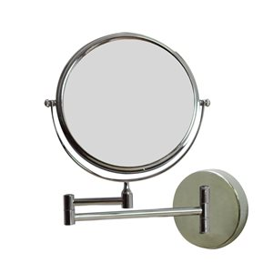 """Miroir grossisant, 19,56"""" x 12,14"""", métal, chrome"""