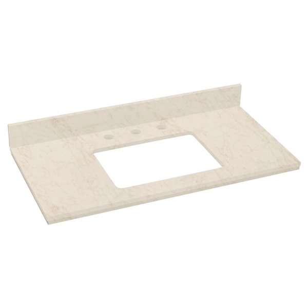 "American Imaginations Elite Marble Top - 36"" x 18.25"" - Beige"
