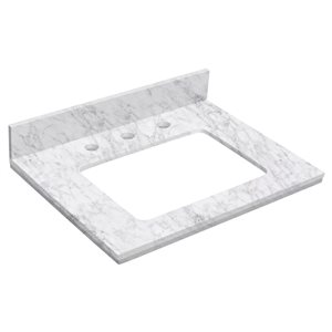 "American Imaginations Elite Marble Top - 23.75"" x 18.25"" - White"