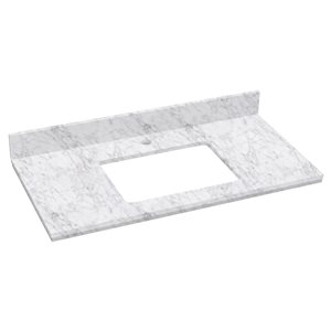 "American Imaginations Elite Marble Top - 36"" x 18.25"" - White"